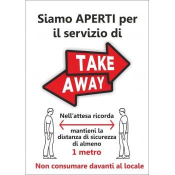 Cartello TakeAway da stampare